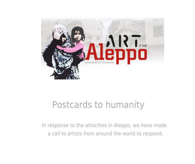 View Art for Aleppo Postcard Art Project by International Artists