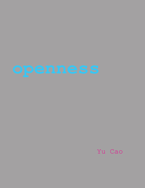View Openness Thesis Book by Yu Cao
