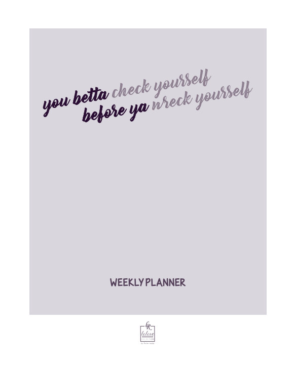 View Check Yourself Weekly Planner by Lauren Rascoe