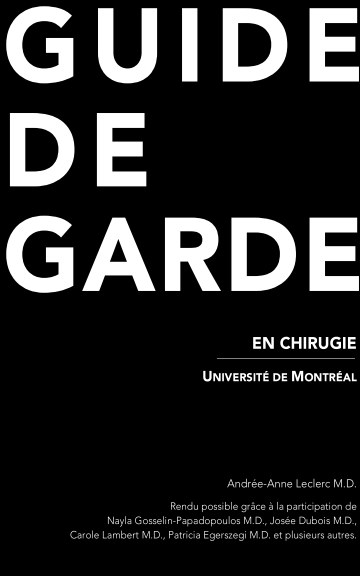 Bekijk Guide de Garde en Chirurgie op Andrée-Anne Leclerc
