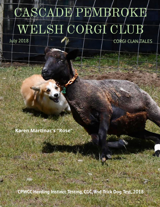 View Corgi Clan Tales, Newsletter, July 2018 by Editor, Patricia L Doll