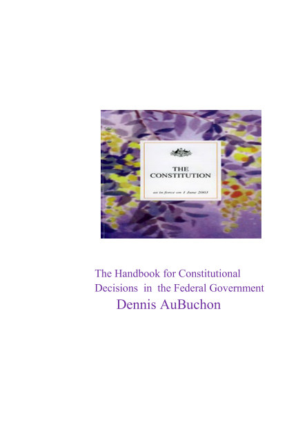 Bekijk The Handbook for Constitutional Decisions in the Federal Government op AuBuchon