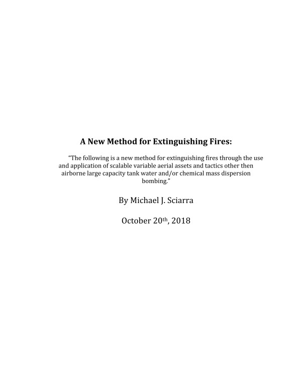 View A New Method for Extinguishing Fires by Michael Sciarra
