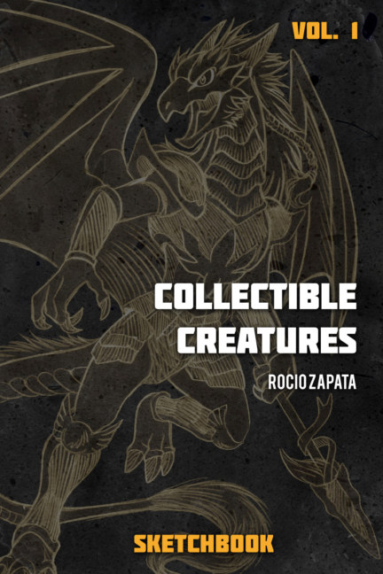 View Collectible Creatures Sketchbook 1 -Greyscale version by Rocio Zapata