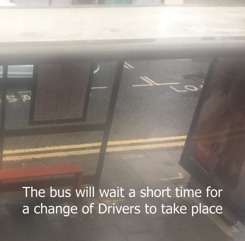 View The bus will wait a short time for a change of Drivers to take place by Liberty Rowley