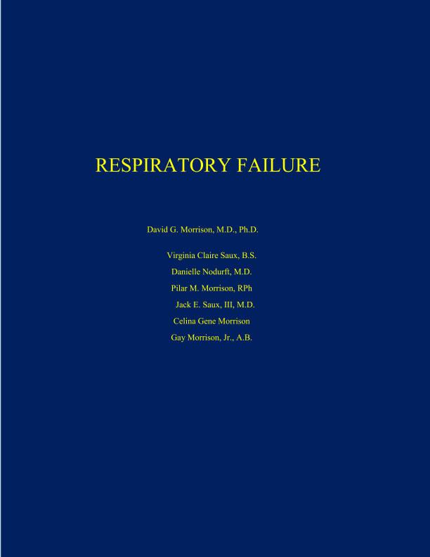 View Respiratory Failure by David G Morrison