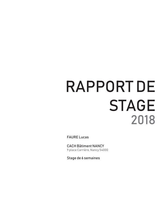 Bekijk Rapport de stage 2018 op Faure Lucas