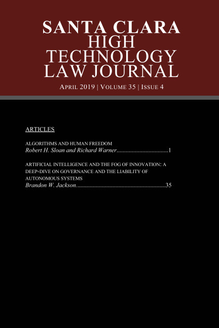 View Volume 35 Issue 4 by High Technology Law Journal