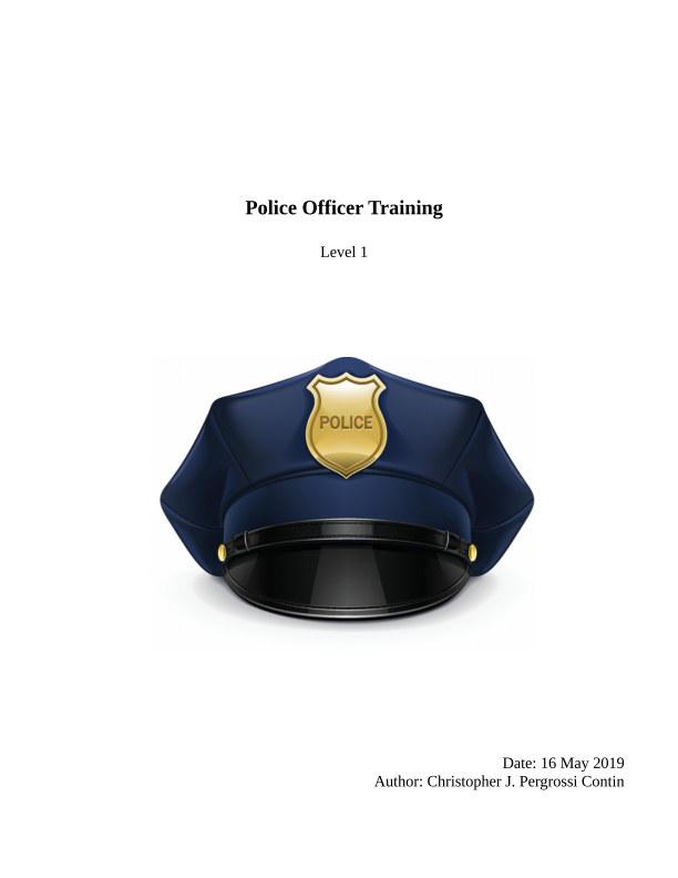 Police Officer (level 1) nach Christopher J. Contin anzeigen