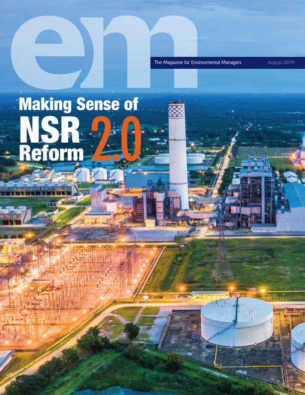 View EM August 2019 by Air and Waste Management Assoc