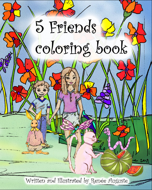 View 5 FRIENDS Coloring Book by Renee Auguste