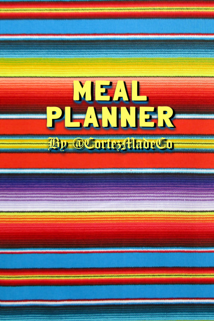 View Meal Planner, Serape Version by Danielle Cortez