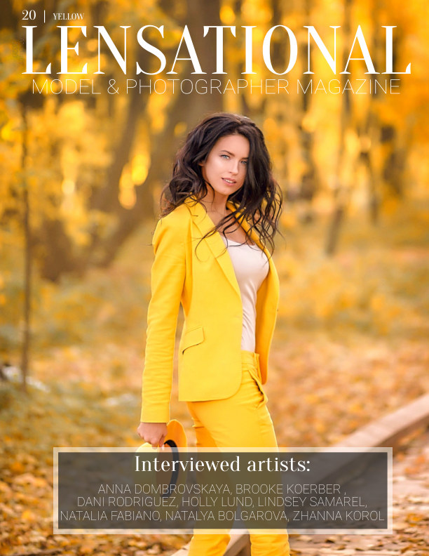 View LENSATIONAL Model and Photographer Magazine #20 Issue | Yellow - January 2020 by Lensational Magazine