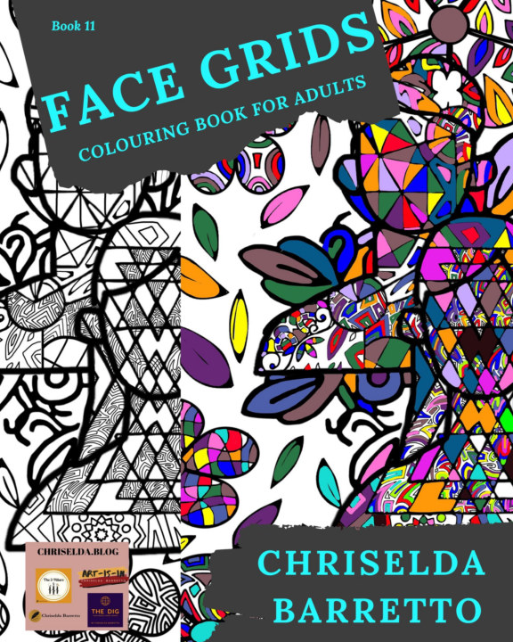 View Face Grids - Colouring Book For Adults by Chriselda Barretto