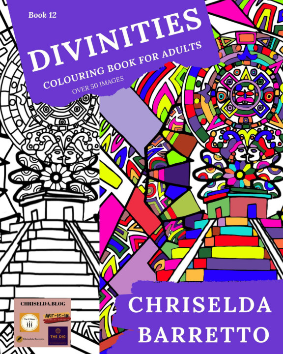 View Divinities - Colouring Book For Adults by Chriselda Barretto