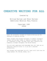Creative Writing For All book cover