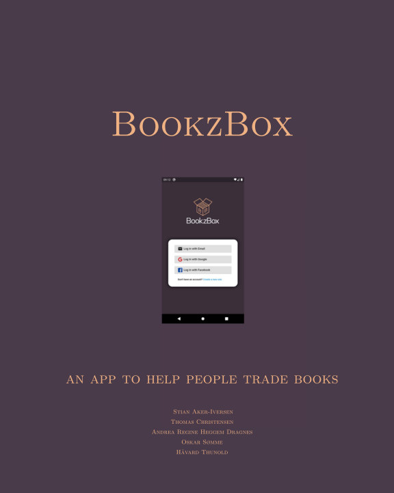 Ver BookzBox - An app to help people trade books por Aker-Iversen et al.