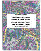 4Q 2020 Professional Priestess Planner and Ritual Journal book cover