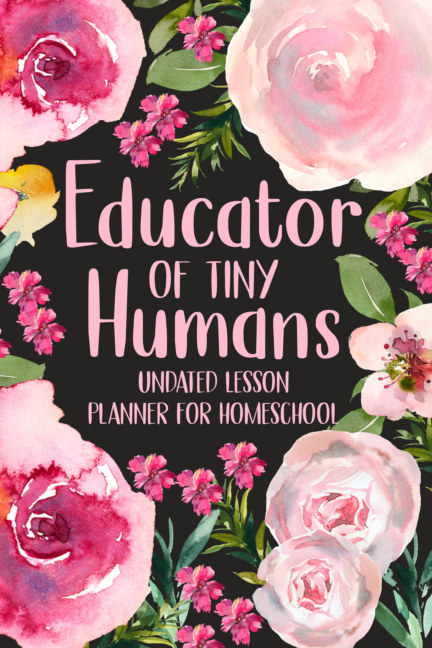 View Educator of Tiny Humans Undated Lesson Planner for Homeschool by PaperLand
