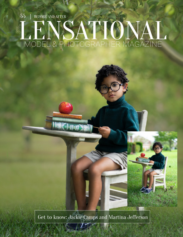 View LENSATIONAL Model and Photographer Magazine #55 Issue | Before and after - August 2020 by Lensational Magazine