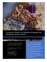 A Collector's Guide to the Minerals of Spring Creek, South Australia book cover