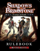 Shadows of Brimstone Swamps of Death Rulebook Revised book cover