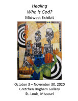 """Who is God? Midwest Exhibit """"Healing"""" 2020 book cover"""