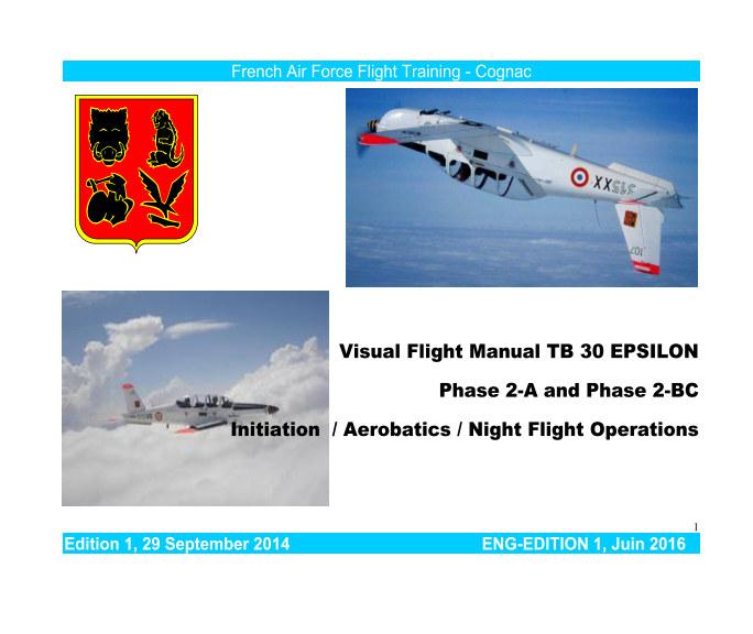 View TB-30 Visual flight manual by PIQUET Paul CNE