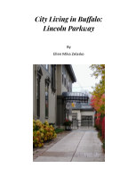 City Living in Buffalo:  Lincoln Parkway book cover
