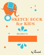 "Sketch book for kids -  Drawing Pad - 130 pages (8.5""x11"") - Notebook for Drawing, Writing, Painting book cover"