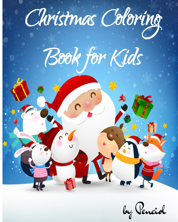 View Christmas coloring book for kids by Penciol Press