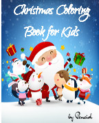 Christmas coloring book for kids book cover