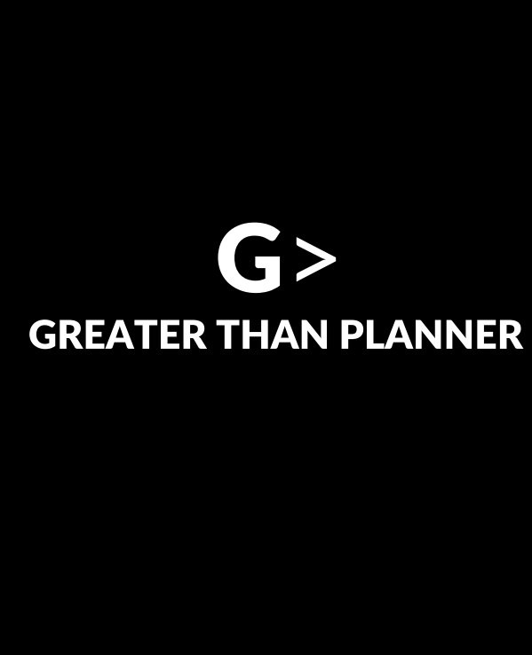 Ver 2021 Greater Than Planner: Hard Cover Genesis Black por Leslie Lissaint