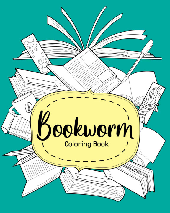 View Bookworm Coloring Book by PaperLand