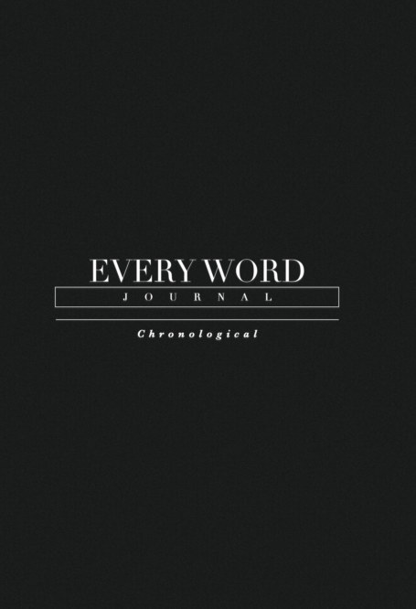 View Every Word Journal Chronological Hardcover by Every Word Collective