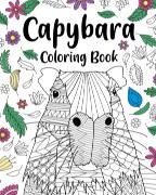 Capybara Adult Coloring Book book cover