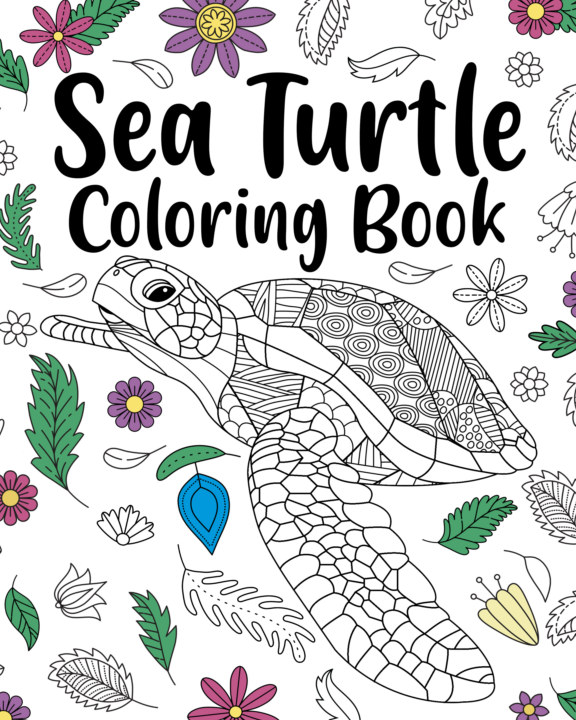 View Sea Turtle Coloring Book by PaperLand