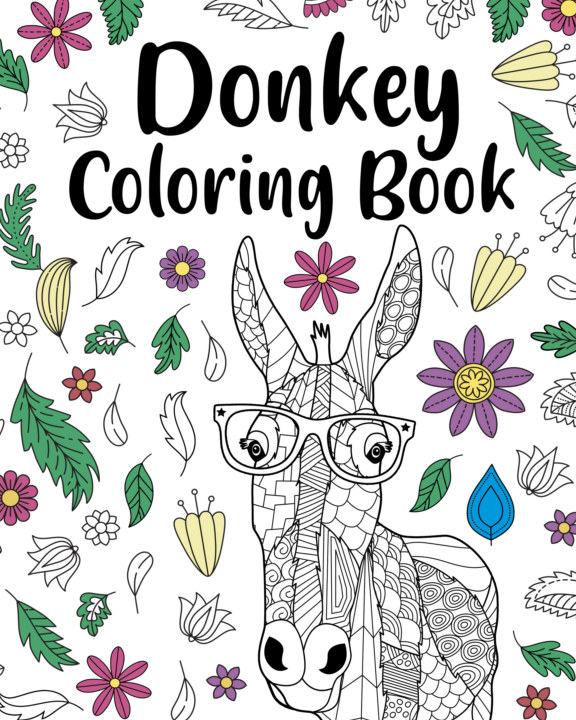 View Donkey Coloring Book by PaperLand