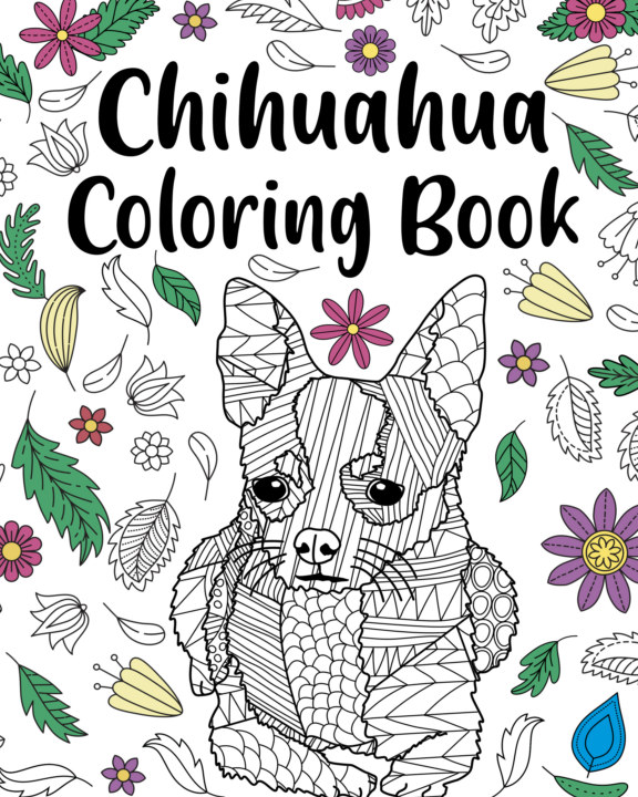 View Chihuahua Coloring Book by PaperLand