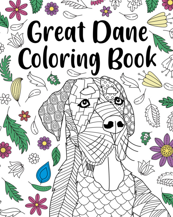 View Great Dane Coloring Book by PaperLand