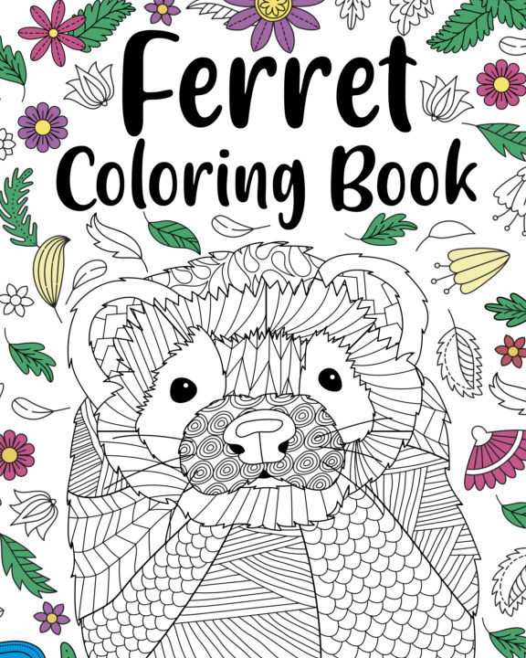 View Ferret Coloring Book by PaperLand