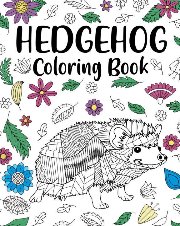 View Hedgehog Coloring Book by PaperLand