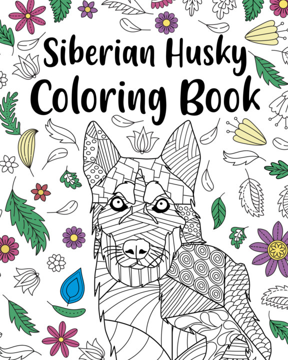 View Siberian Husky Coloring Book by PaperLand