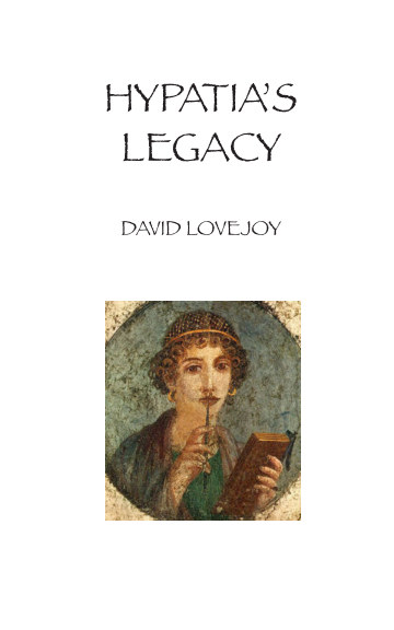 View Hypatia's Legacy by David Lovejoy