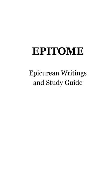 Ver Epitome: Epicurean Writings and Study Guide por Hiram Crespo