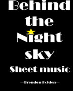 Behind the Night Sky Sheet Music (Standard Paper) book cover