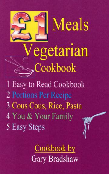 View £1 Meals Vegetarian Cookbook by Gary Bradshaw