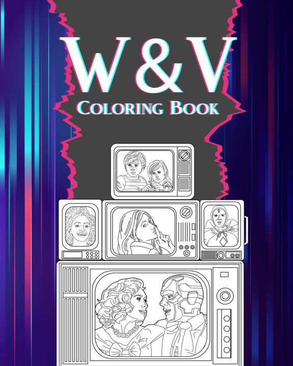 View WandaVision Coloring Book by PaperLand
