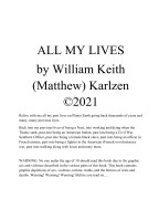 All My Lives book cover
