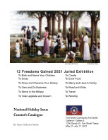 Curators Catalogue of 12 Freedoms Gained  2021 Juried Exhibition 2nd Edition book cover